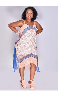 FERLA- Printed Handkerchief Dress
