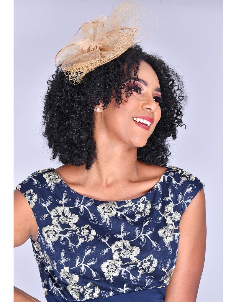 YASANDRA- Mesh Top Lace Faux Wrap Dress