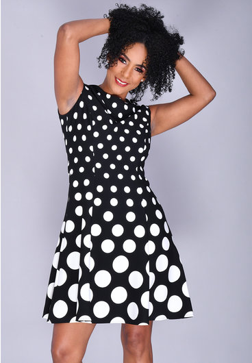 RAFE- Fit & Flare Polka Dot Dress