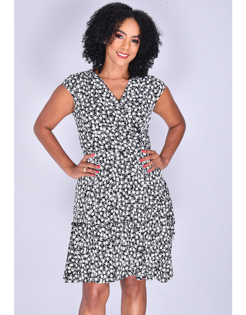 Signature INBAR- Printed Cap Sleeve Dress