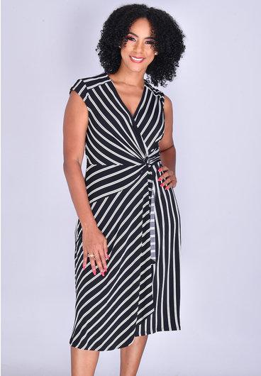 Signature IZOLDA- Striped Knot Dress