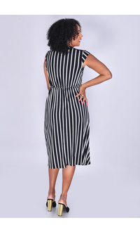 Signature IZOLDA- Striped Knot Dress