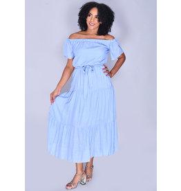 KENISHA- Off the Shoulder Maxi Dress