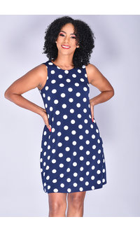 Jessica Howard IDERA- Sleeveless Polka Dot Dress