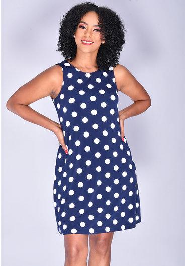 Jessica Howard IDERA- Sleeveless Polka Dot Dress