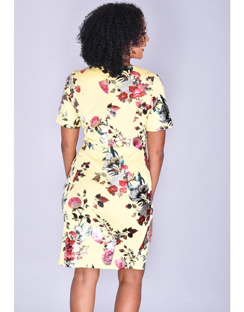 UDANNI- Foil Print Scuba Dress