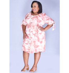 MLLE Gabrielle GRACE- Plus Size Printed Shirt Dress with Pockets