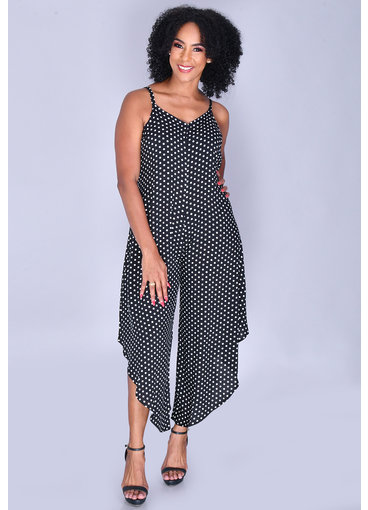 MSK KIRA- Polka Dot V-Neck Jumper