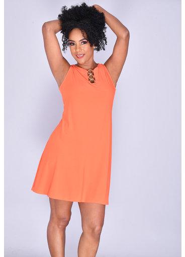 MSK IDANET- Sleeveless Dress with Rings
