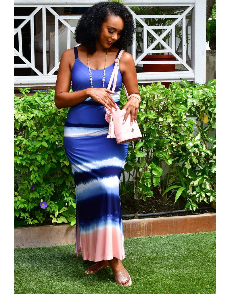 MSK ISMAIL-Tie-dye Maxi Dress