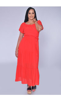 KENISHA- Off the Shoulder Maxi Dress