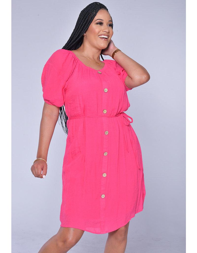 MLLE Gabrielle GANYA- Puff Sleeve Shirt Dress