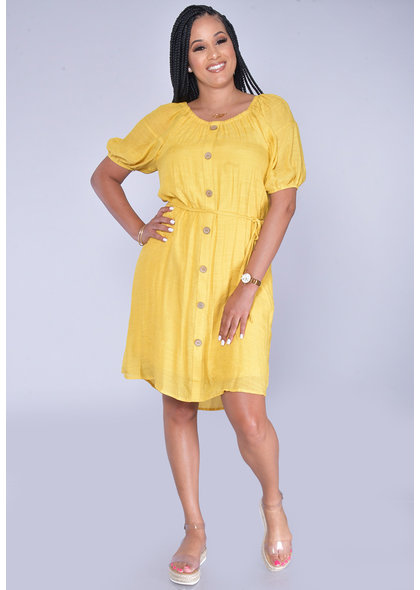 MLLE Gabrielle GANYA- Puff Sleeve Shirt Dress