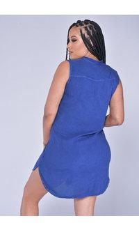 ACE Fashions KAREN- Sleeveless Shirt Dress