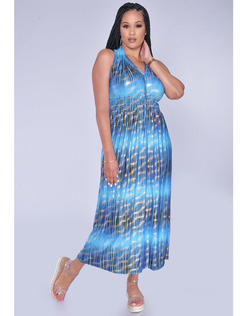ACE Fashions YARELLA- Printed Maxi with Smocking Insert