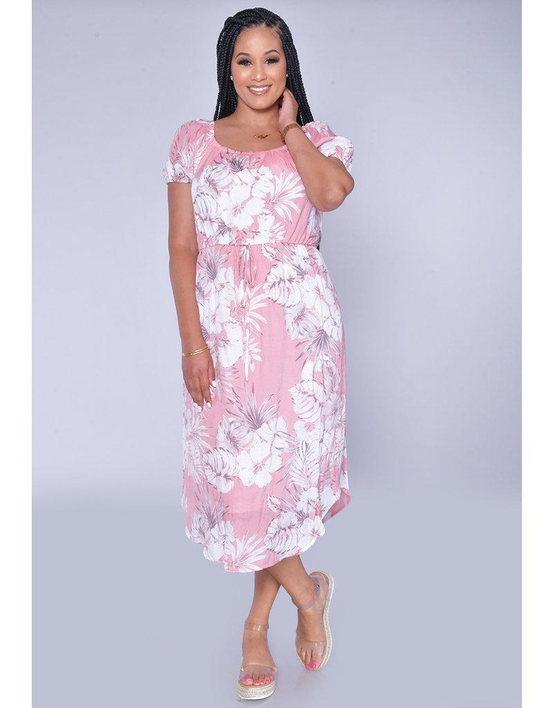 MLLE Gabrielle GWEN- Short Sleeve High Low Dress