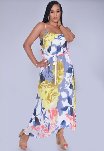 Signature FLORE- Floral Strappy Dress