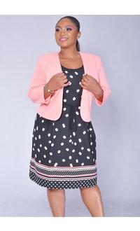 Studio 1 BELIE- Polka Dot Dress with Solid Jacket