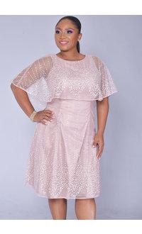MOLLY- Glitter Fit & Flare Dress