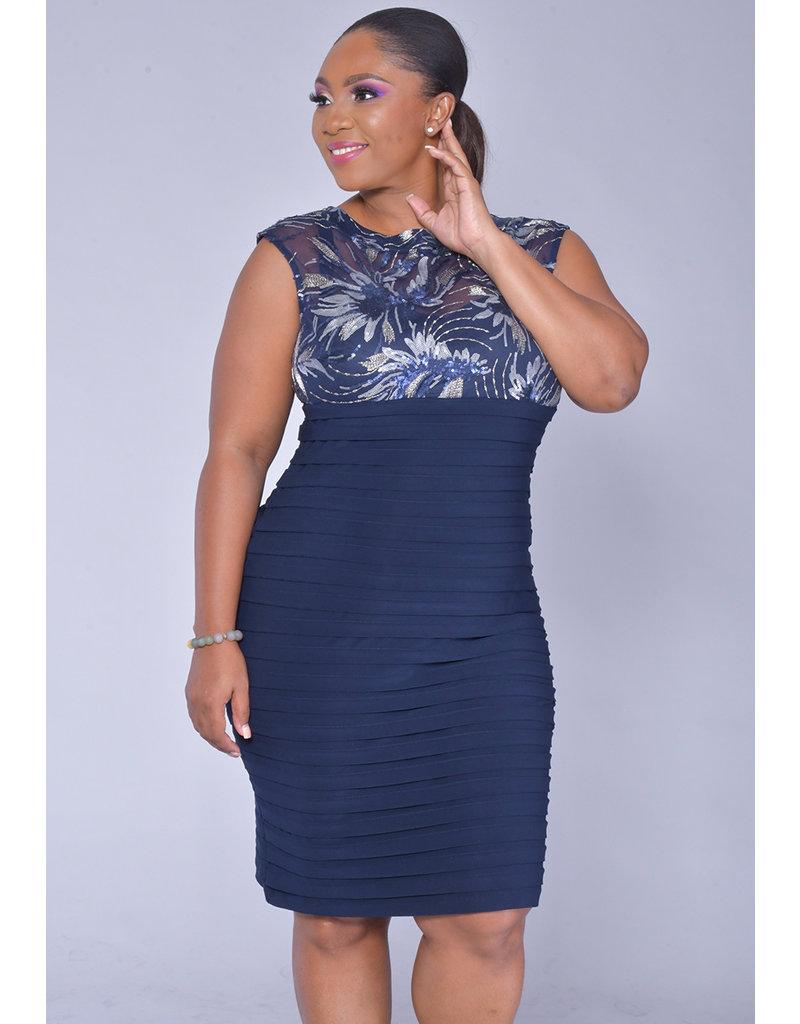 Scarlett MILLIE- Mesh Top Dress with Mini Shutters