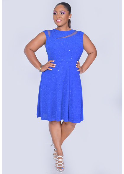 Scarlett XAVIA- Fit & Flare Shimmer Dress