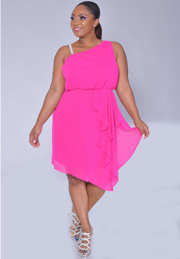 Scarlett FANIA- Chiffon Dress with Bejeweled Strap