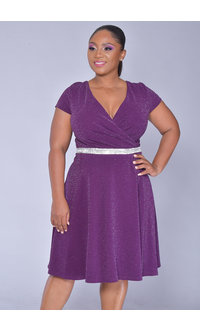 Scarlett JANIE- Lap Top Dress with Jewel at Waist