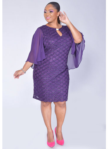 MAVIS- Mesh Dress With Bell Sleeves