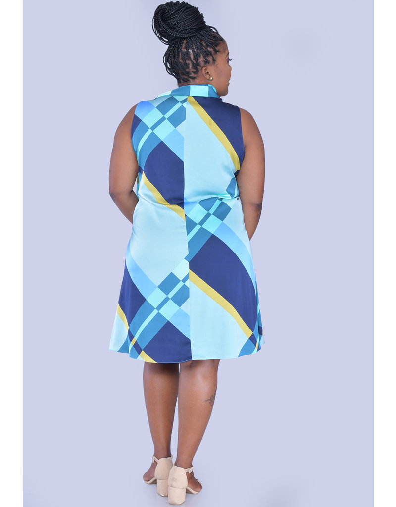 SYAN- Cowl Neck Dress with Tie