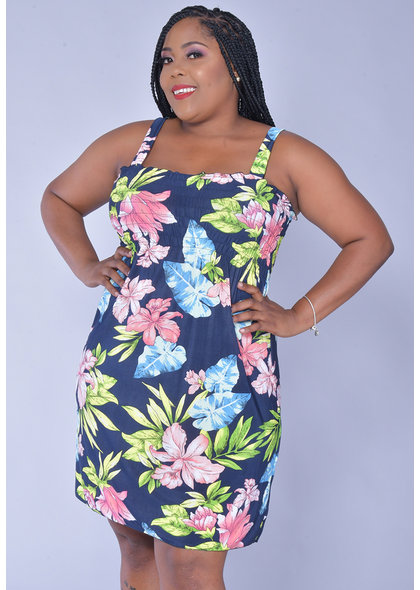 ACE Fashions INDICA- Plus Size Strappy Sun Dress