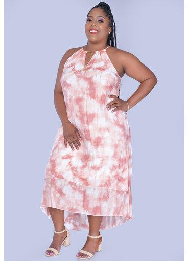 MLLE Gabrielle GAMORA- Plus Size High Low Halter Dress