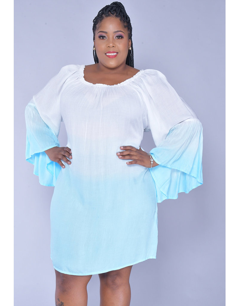 ACE Fashions KALIYAH- Tiedye Bell Sleeve Dress