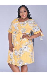 MLLE Gabrielle GALLA- Plus Size Floral Print Dress