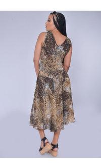 Rabbit Rabbit FERU- Broad Strap Animal Print Dress