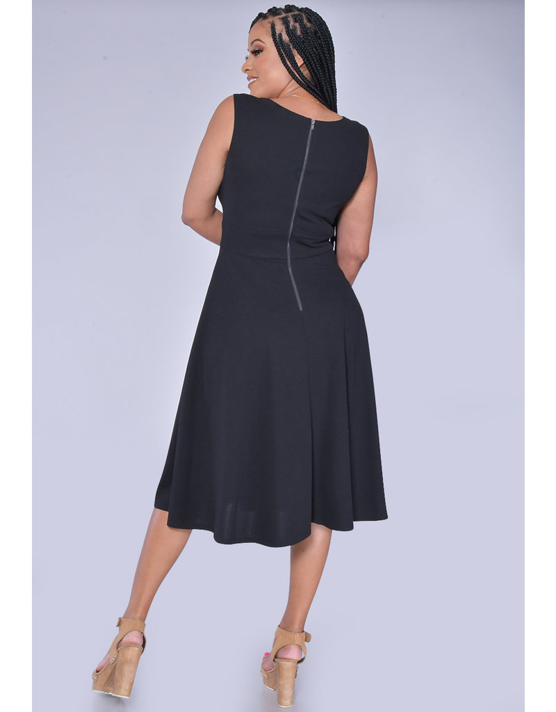 RHAPSODY- Sleeveless Fit and Flare Dress