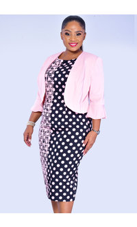 PATA- Polka Dot Dress and Jacket Combo
