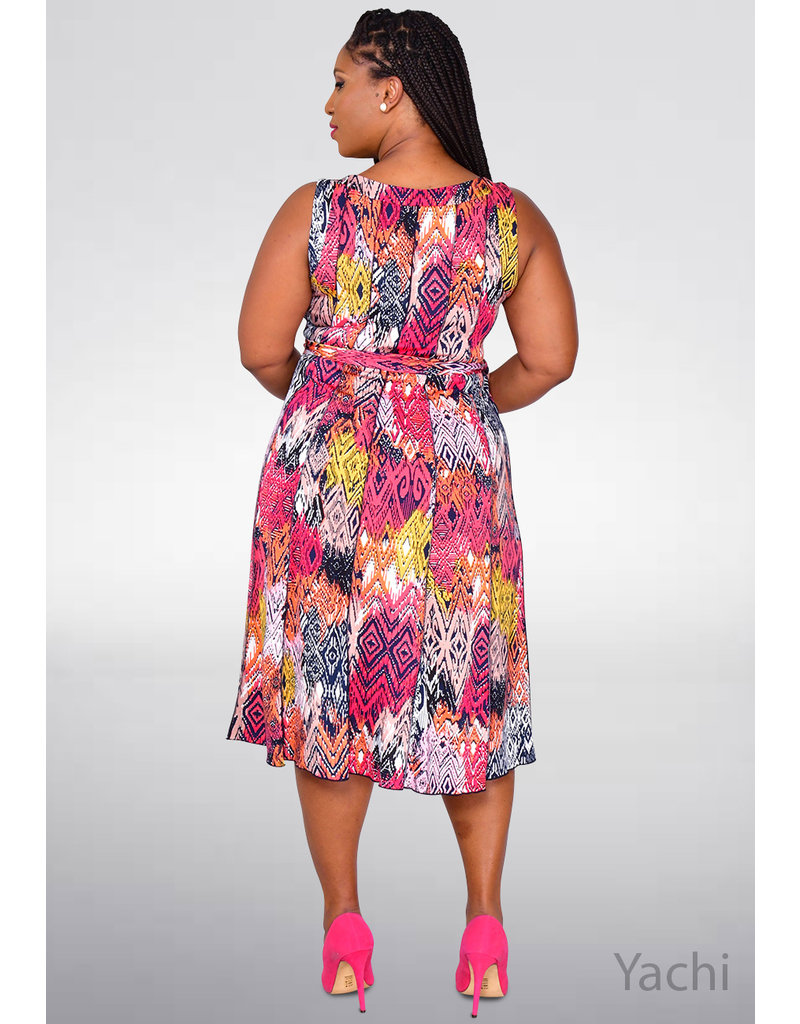 YACHI- Printed Princess Seams Dress