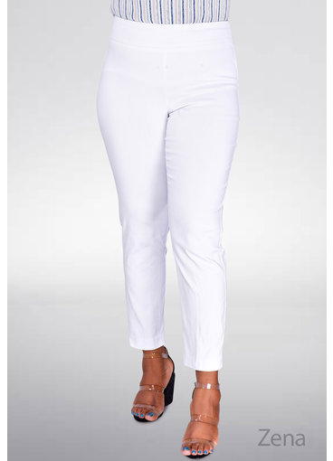 Counterparts Zena- Slim Ankle Crop Pants with Pockets