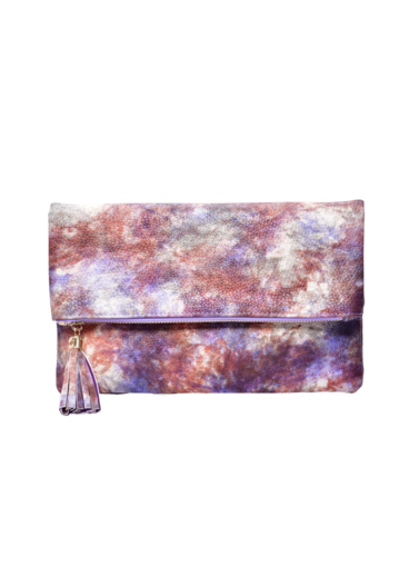 Tie Dye Clutch Bag with Tassel