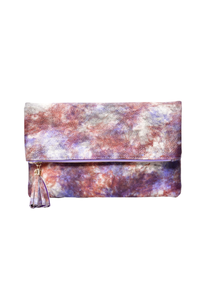 Tie Dye Clutch Bag with Tassel