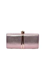 L & F Evening Clutch with Ribbon Shaped Stud
