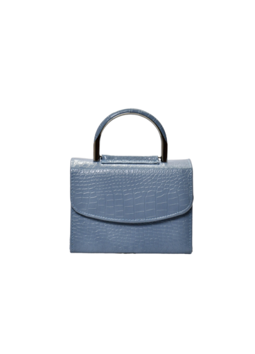 KMQ Croc Skin Bag with Hard Handle