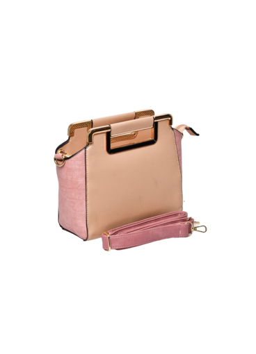 KMQ Rectangle Hand Bag with Double Handle