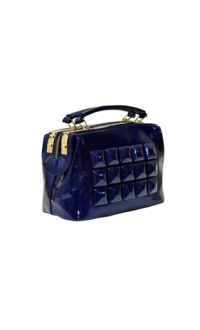 KMQ Patent Leather Double Handle Hand Bag