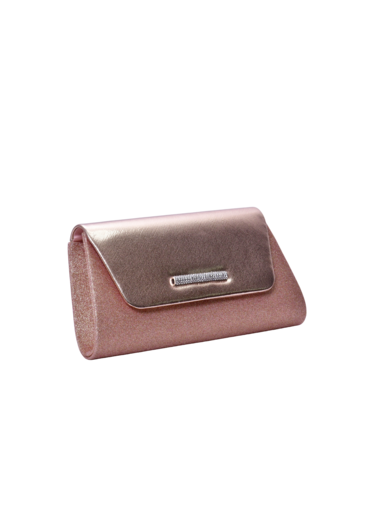 CECI Glitter Clutch with Shinny Flap
