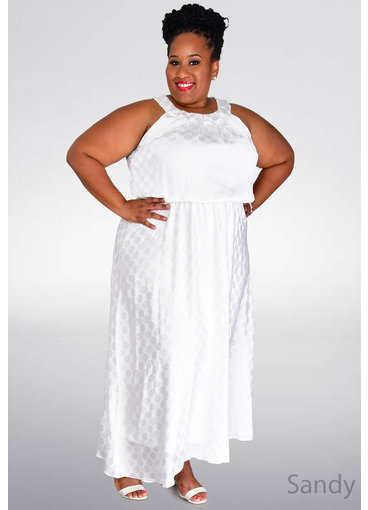 Signature SANDY- Plus Size Sleeveless Midi Dress