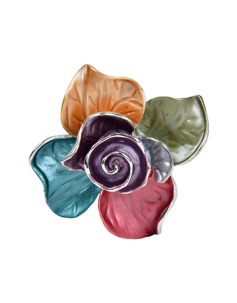 AJ Fashions Magnetic Floral Brooch