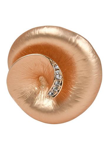 AJ Fashions Rose Magnetic Brooch with Rhinestones