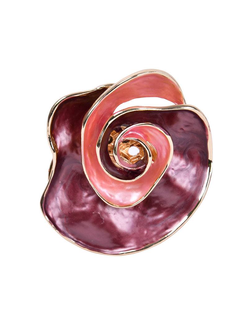 AJ Fashions Jewelry-AJF magnetic rose brooch