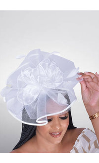 Crin Fascinator with Ruffle and Feather Trims